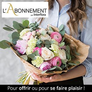 Bouquet de fleurs Abonnement - bouquet de saison  - tous les mois - pour une durée de 6 mois - Taille Normale Code Promo