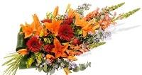 Gerbe de fleurs deuil
